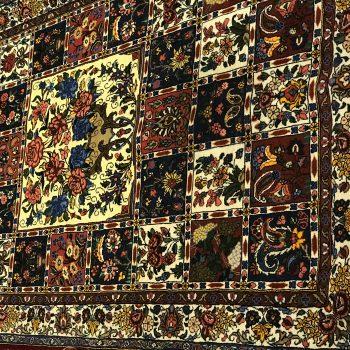 فرش جفت قاليچه بختياري خشتي ريز بافت